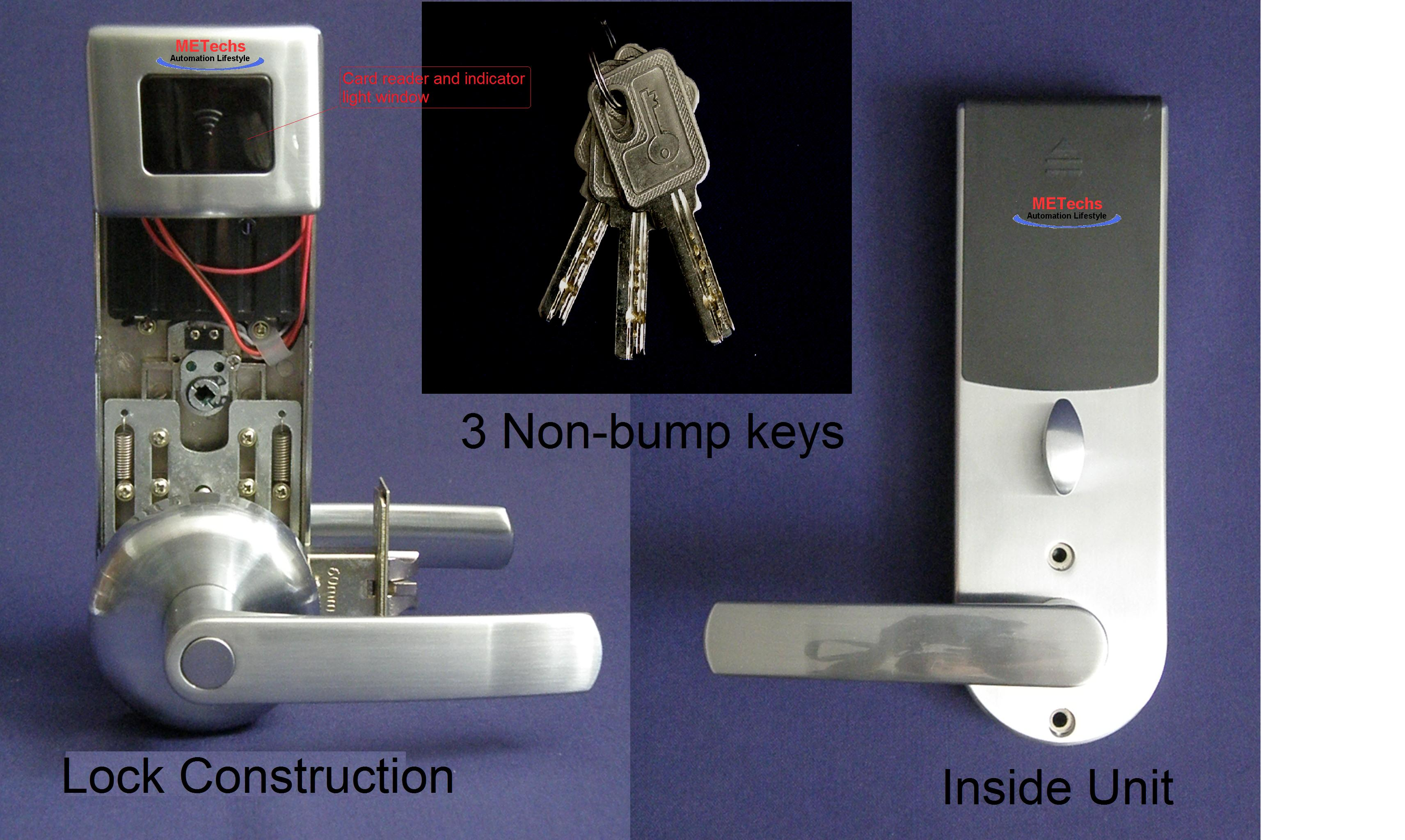 Keyless Rfid Card Reader Access Door Lock Mid1100lh Ebay