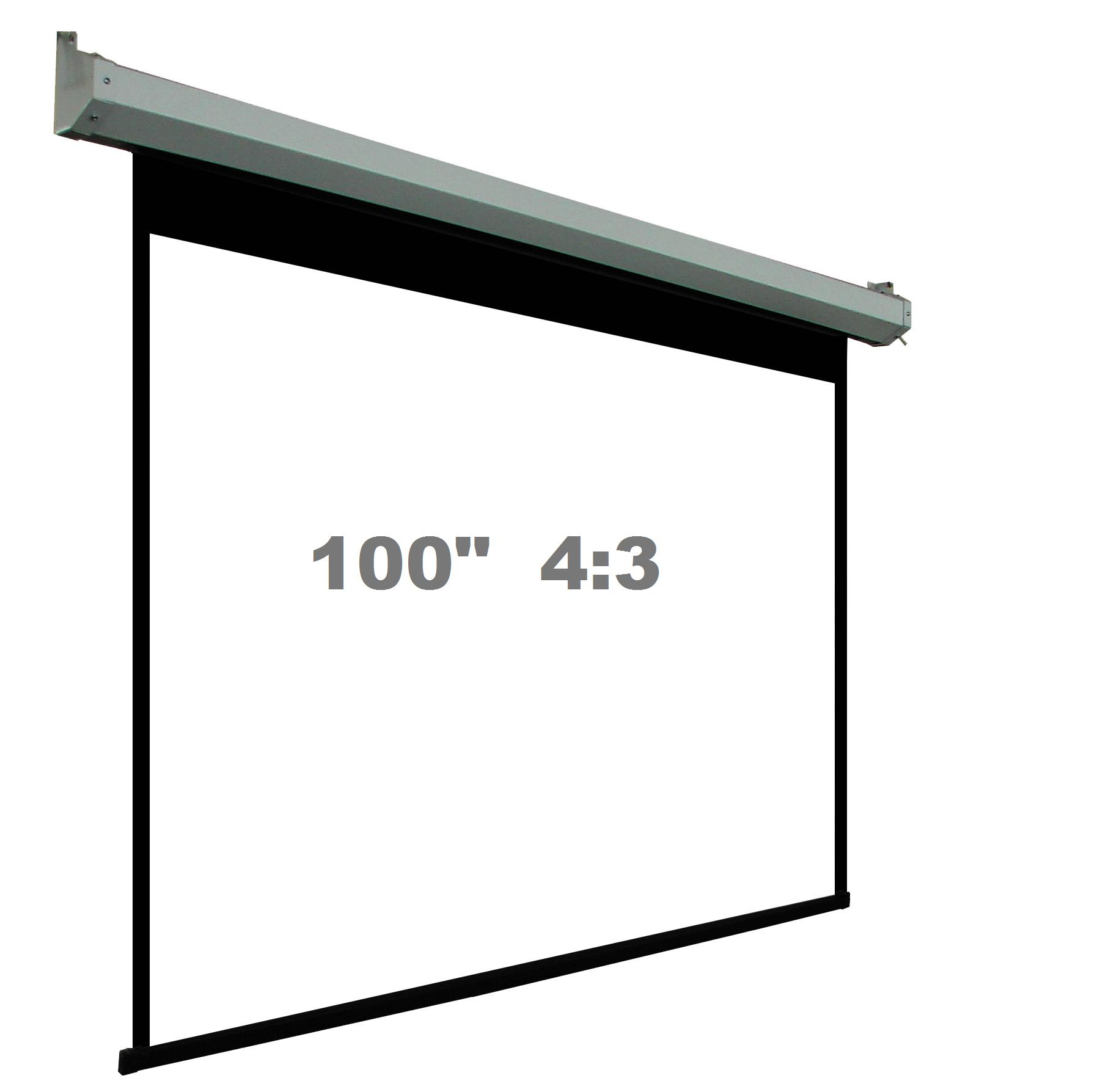 100 4 3 Motorized Electric Projector Screen Me43e 100w