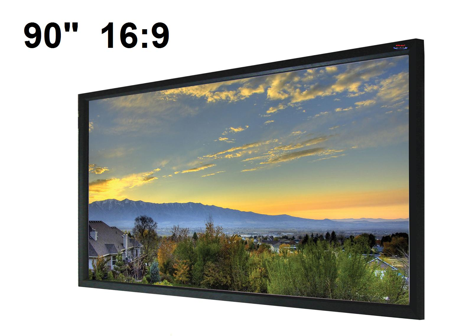 90 169 fixed frame projection screen me169f 90