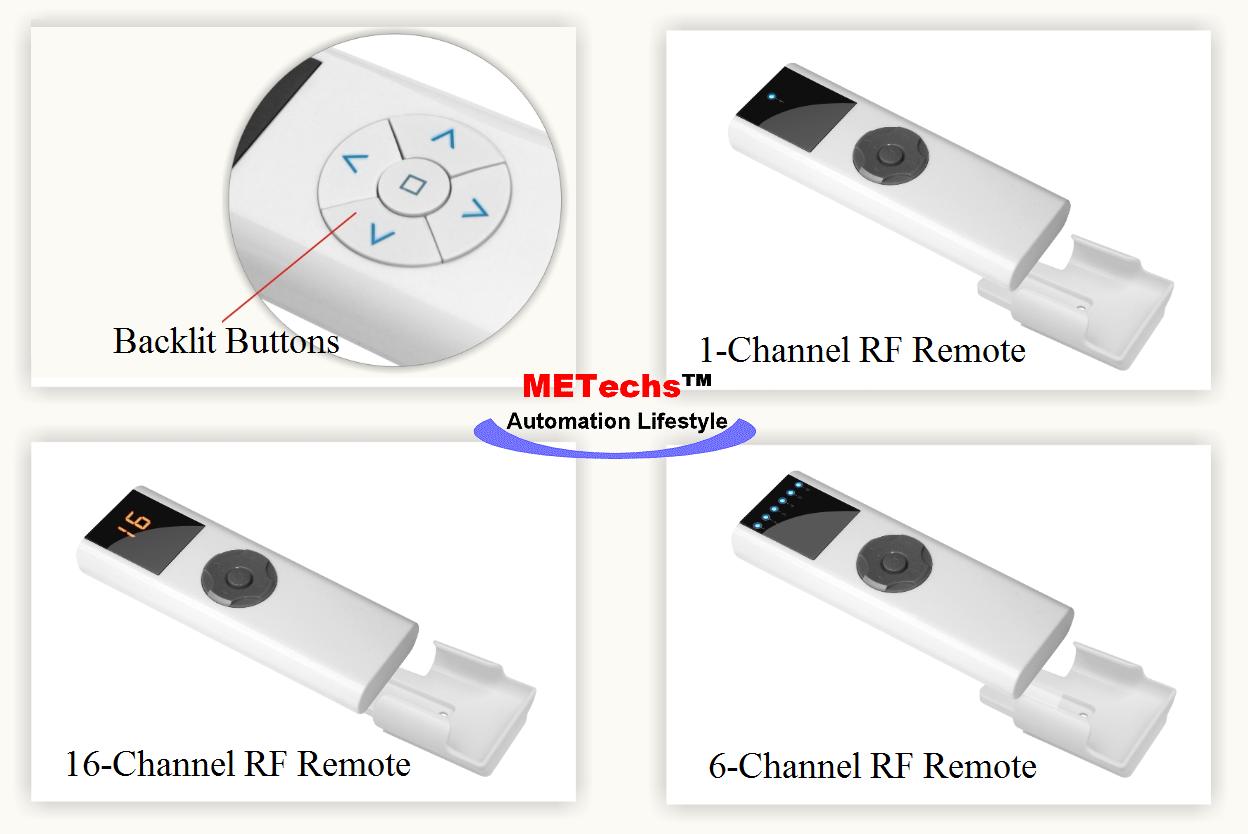 METechs RF Tubular Motor Remote