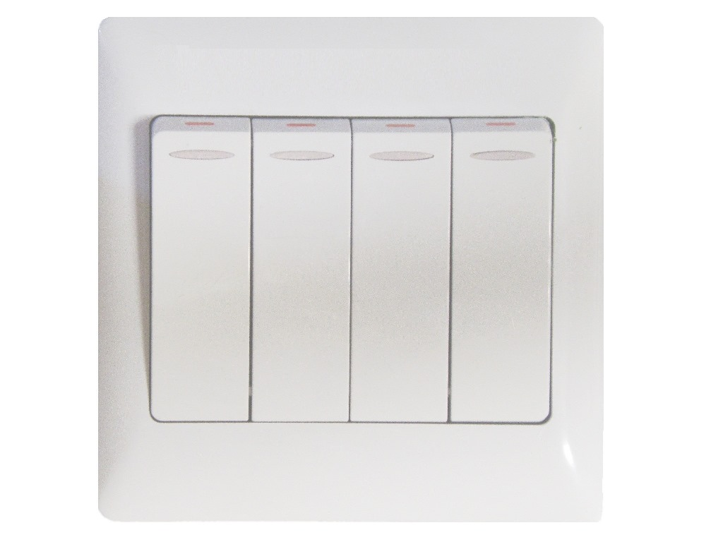4 Buttons Wall Switch for Electric Curtain and Sheer Dual Tracks ...